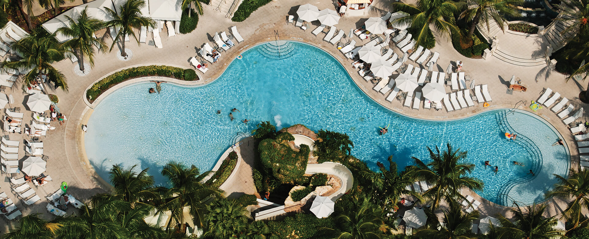 naples grande pool aerial view