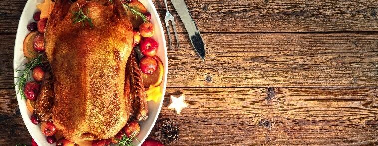 roasted turkey on a plate