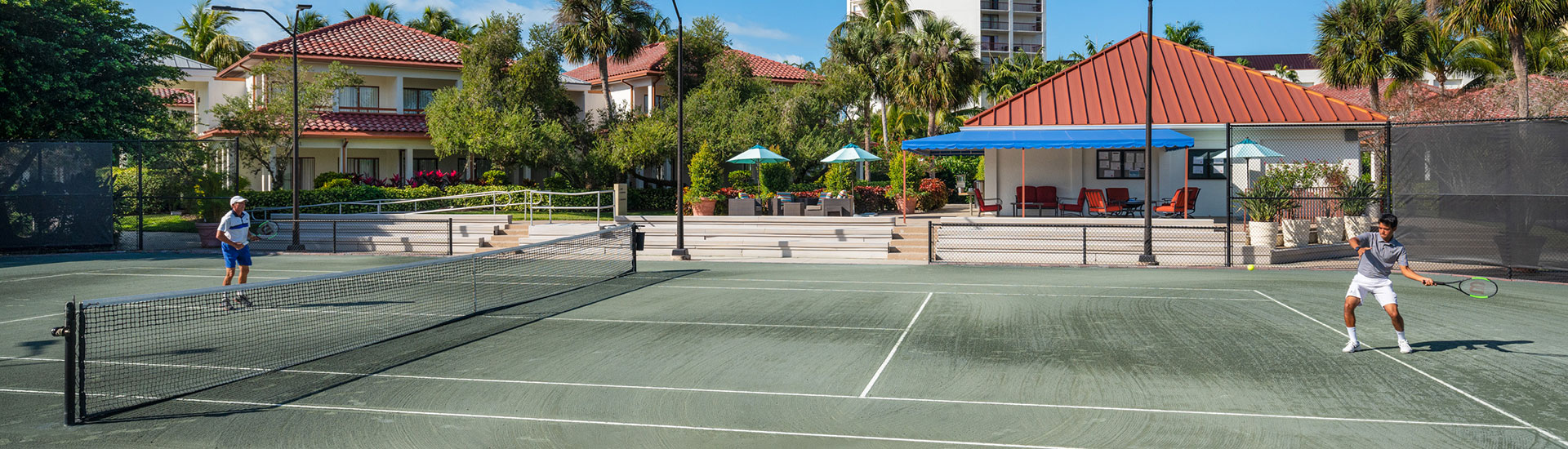 playing tennis Naples Grande